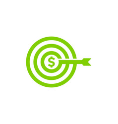 target stock market business logo icon design vector image
