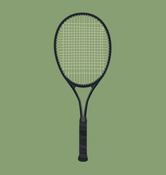 Tennis racket flat style isolated vector