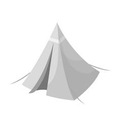 Tent conetent single icon in monochrome style vector