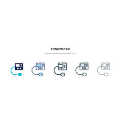 Tonometer icon in different style two colored vector