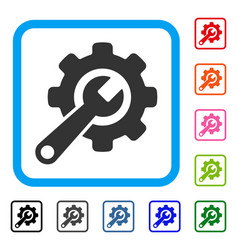 tools framed icon vector image