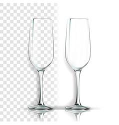 transparent glass brandy blank empty vector image