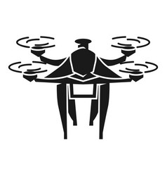 trucking drone icon simple style vector image
