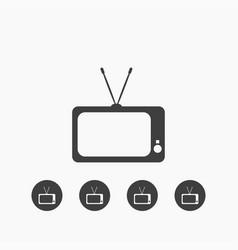 tv icon simple vector image