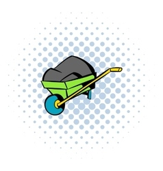 Unicycle trolley icon comics style vector image