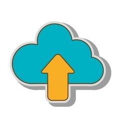 Upload cloud hosting vector