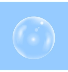 Water transparent bubble vector