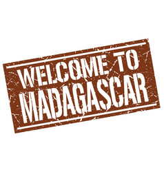 welcome to madagascar stamp vector image