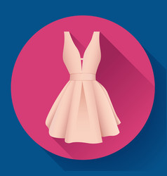 Woman dress icon vector