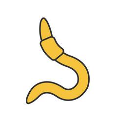 Worm color icon vector