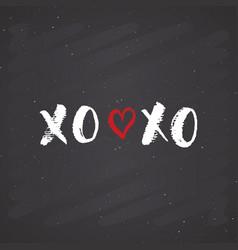 Xoxo brush lettering sign grunge calligraphic c vector