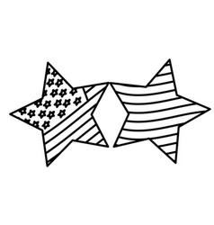 figure stars with stars and stripes icon vector image vector image