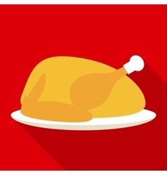 Hot Turkey for Christmas or Thanksgiving Day vector image