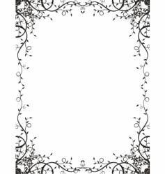 ivy frame vector image vector image