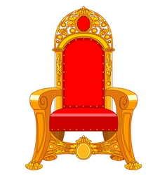 Old antique armchair vector image