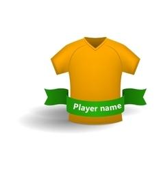 Orange sports shirt icon cartoon style vector image vector image