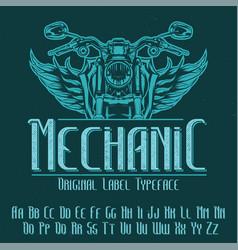 original label typeface vector image