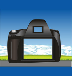 photographic device and nature vector image