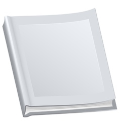 White closed book in paperback vector image vector image