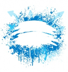 Blue and white grunge design vector