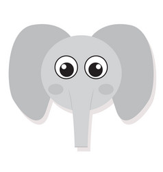 isolated elefant face vector image