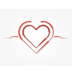Red heart symbol icon vector image