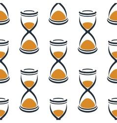Retro cartoon hourglasses seamless pattern vector image vector image
