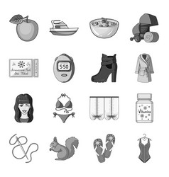 sewing sports travel and other web icon in vector image