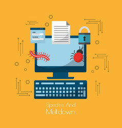 spectre and meltdown computer software virus vector image vector image