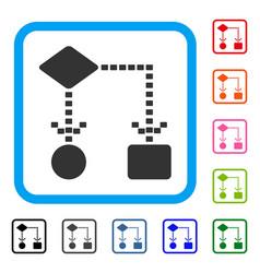 algorithm scheme framed icon vector image