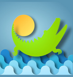 box of shadow crocodile plays vector image vector image