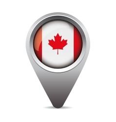 Canada pointer flag vector image vector image