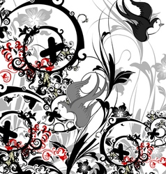 Floral vector image vector image