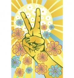 flower power vector image vector image