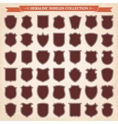 Heraldic shields silhouettes set vector image vector image