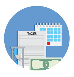time for taxation icon vector image
