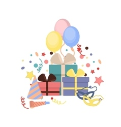 Celebration party carnival festive icons set vector image