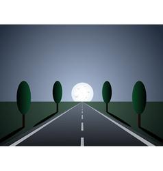 empty road - moon light vector image vector image