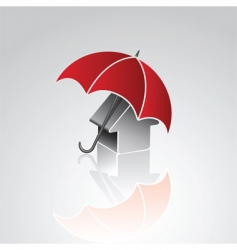 house under umbrella vector image vector image