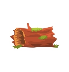 Moldering swamp log isolated element of forest vector