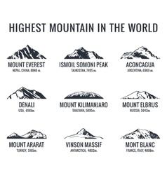 Mountain tourist logos set Posters vector image vector image