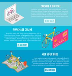 online bike shopping concept horizontal vector image vector image
