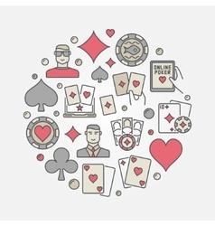 Poker colorful circular vector