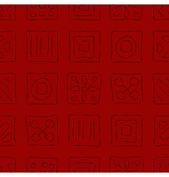 Scratched Symbols on Red vector image