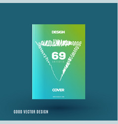 Abstract design of business brochure vector