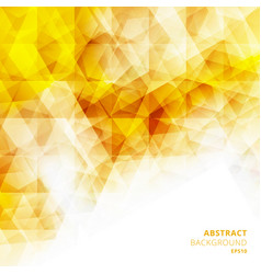 abstract low polygon geometric pattern yellow vector image
