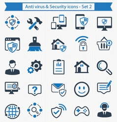 Anti virus and Security icons - Set 2 vector