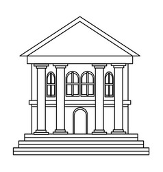 Bank building business and finance construction of vector