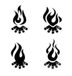 bonfire icon campfire logo wood campfire vector image