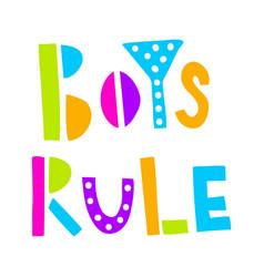 Boys rule neon vector